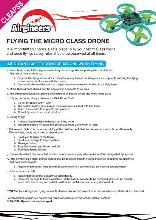 Selecting a Flying Space for the Micro Class