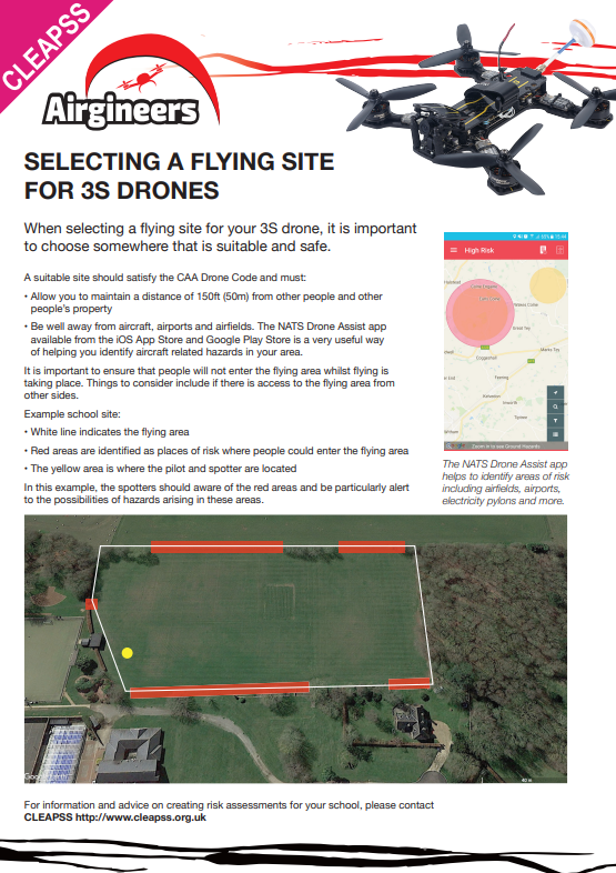 Selecting a flying site for the 3S Class Drone